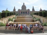 ... diesmal die katalanische Hauptstadt Barcelona:  HS61 mit Gaudí über die Ramblas vorbei an der Sagrada Familia  zum Beach von Mare Magnum