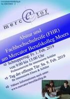Schnuppertag am Fr., 01.02.2019 für Höhere Handelsschule und Wirtschaftsgymnasium