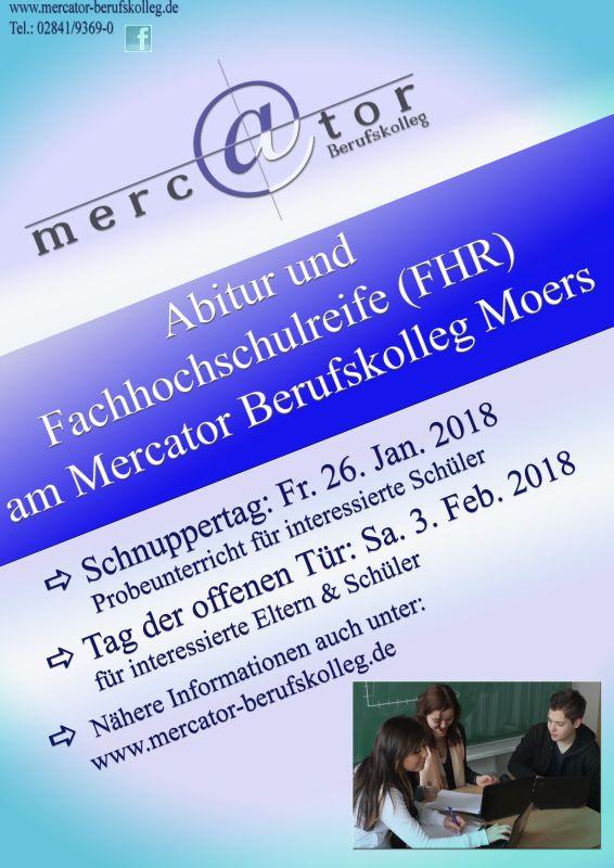 Schnuppertag am 26. Januar 2018 für Höhere Handelsschule und Wirtschaftsgymnasium