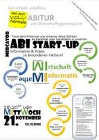 """""""Abi Startup"""" am 21. November bei uns in der Schule"""