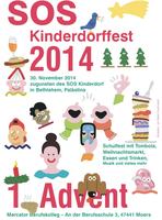 Advent, Advent, die erste Kerze brennt  -  SOS-Kinderdorffest am 30. November 2014