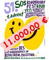 Spendensumme 51. SOS Kinderdorffest 11.000,00 €  🤗