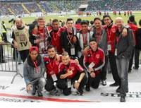 Mercator Fußball AG bei Eintracht Frankfurt im Spieltagcamp